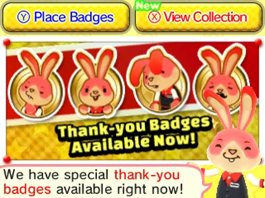 Badge Arcade Bunny Thank You