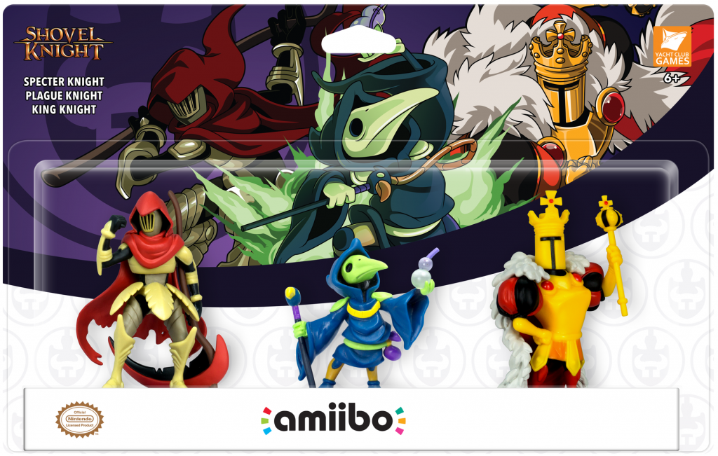 Three Shovel Knight Amiibo Unveiled for 'Shovel Knight: King of Cards'