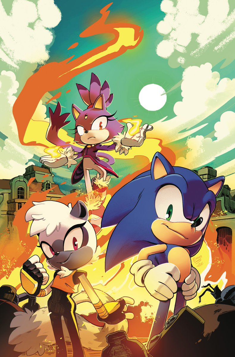 new art and character revealed for sonic the hedgehog comics
