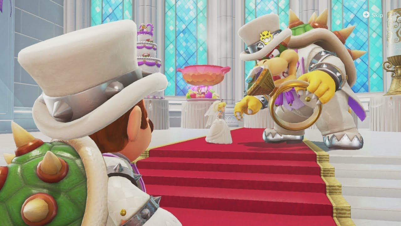 supermarioodyssey bowser peach wedding nintendo wire