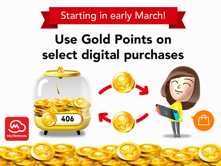 Nintendo eShop will accept My Nintendo gold points in March