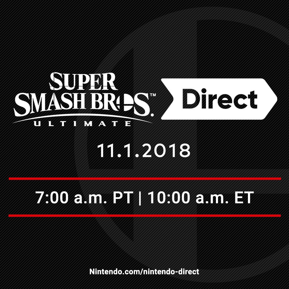 Watch the Final Super Smash Bros. Ultimate Nintendo Direct Live!