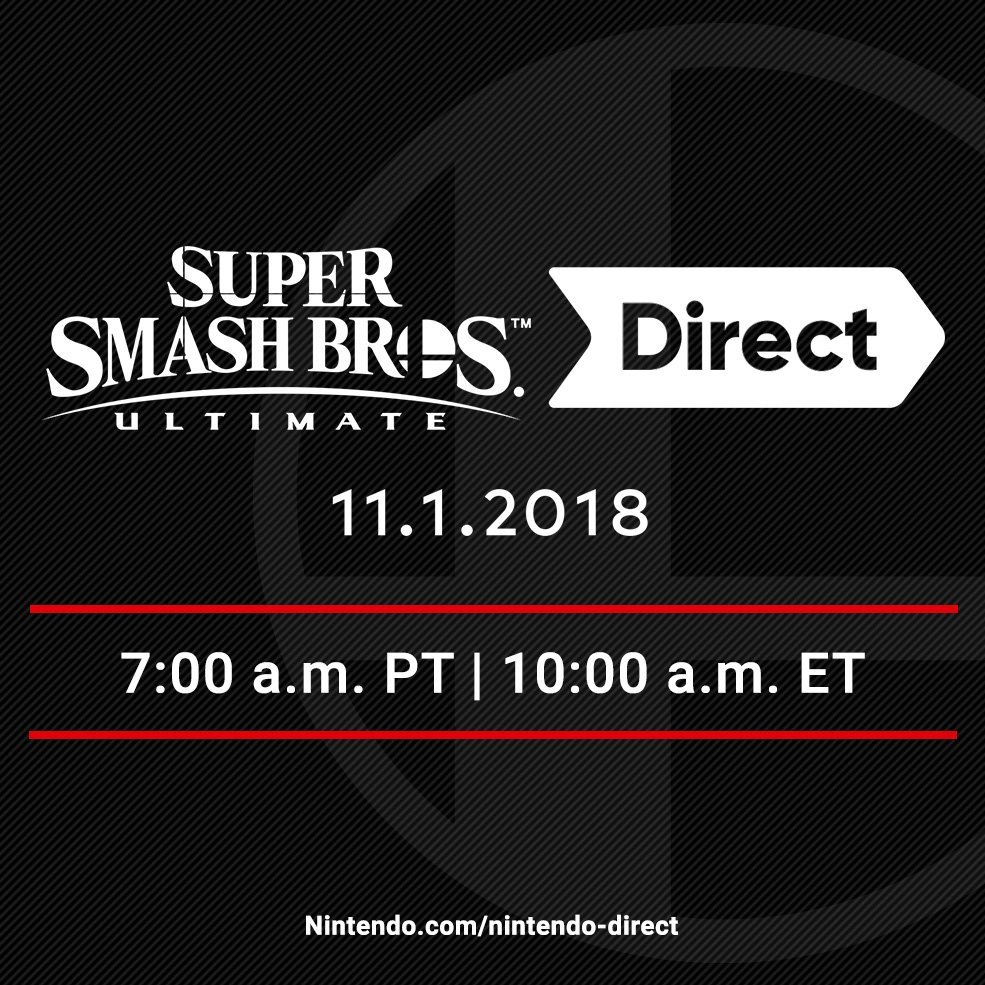 Super Smash Bros. Ultimate Direct Nov 1