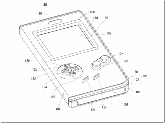 Nintendo patents a Game Boy case for touchscreen devices