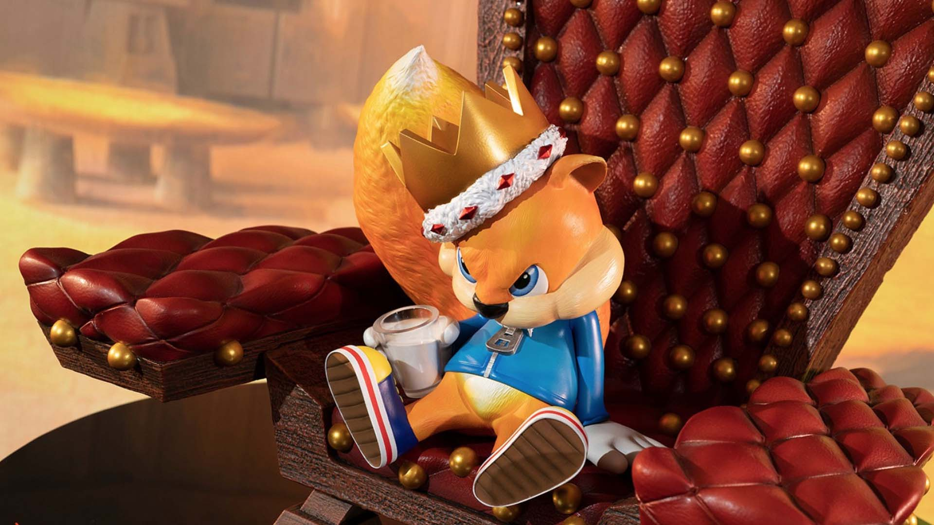 Conker S Bad Fur Day Statue Available For Pre Order From First 4