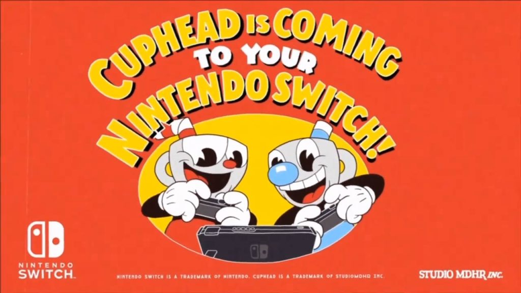 Cuphead for Nintendo Switch Announced, Release Date Confirmed