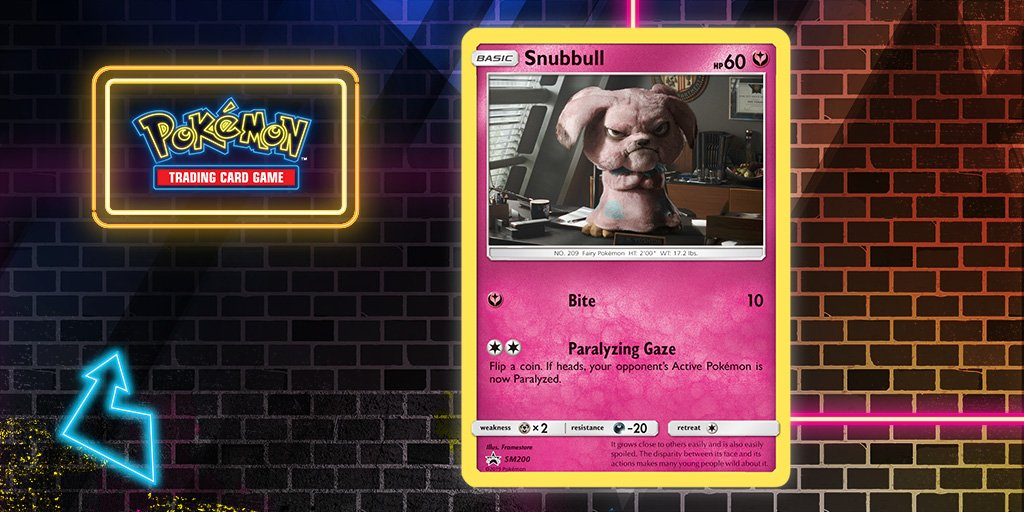 Detective Pikachu Snubbull Pokemon Promo Card GameStop Exclusive SM200 New