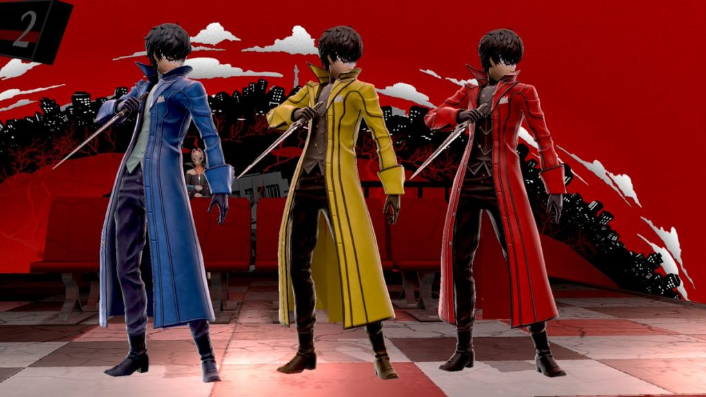 As assumed by many the blue yellow and red Joker costumes are paying tribute to the key colors of Persona 3 4 and 5 respectively