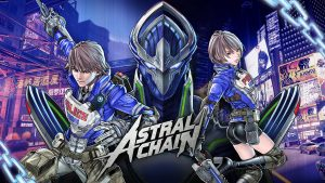 Astral Chain artwork and logo