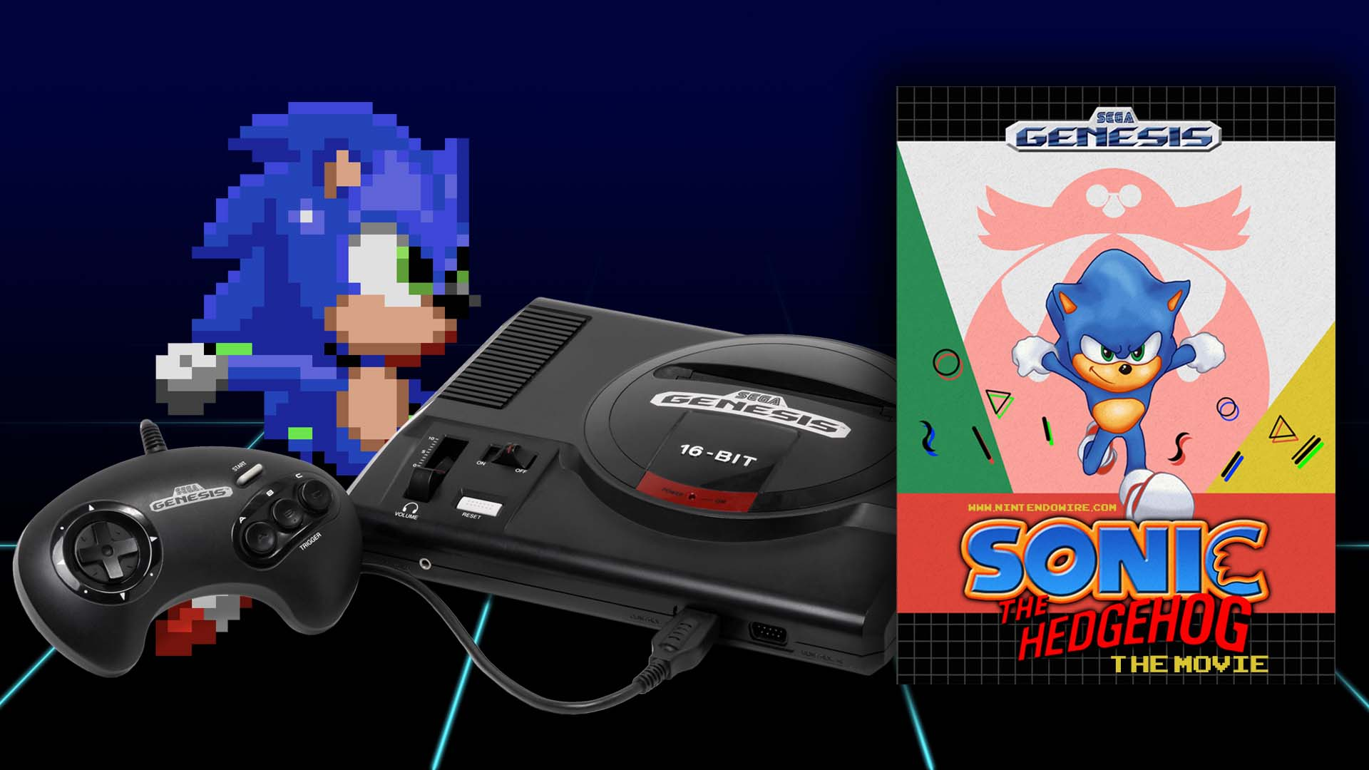 Sonic The Hedgehog The Movie Sega Genesis De Make Nintendo Wire