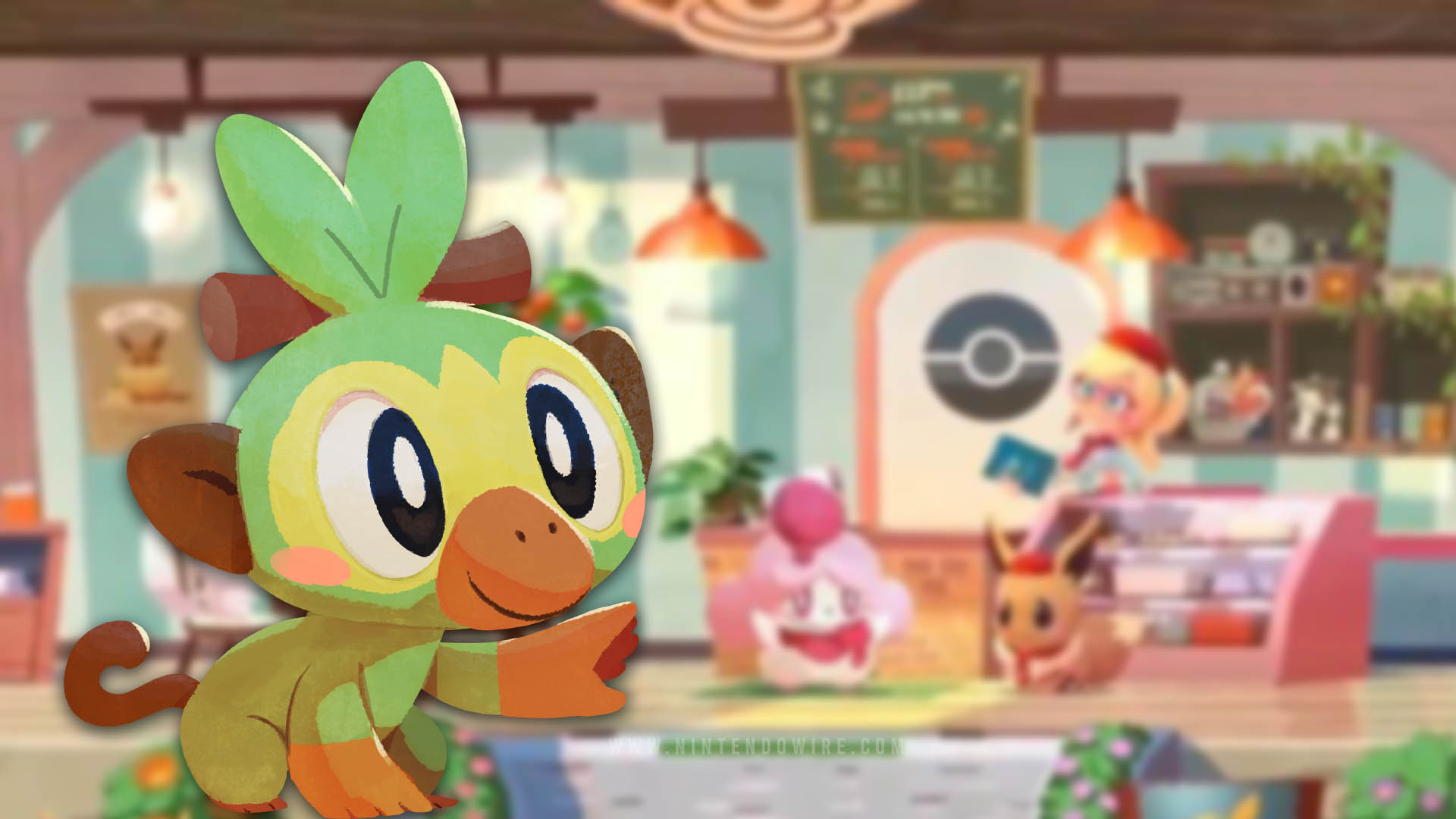 Pokemon Cafe Mix S Next Special Visitor Is Grookey Nintendo Wire The first pokemon sword/shield grookey papercraft this amazing cute papercraft template is 22 cm tall and has 5 pag. pokemon cafe mix s next special visitor